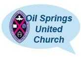 oil springs united church speach bubble